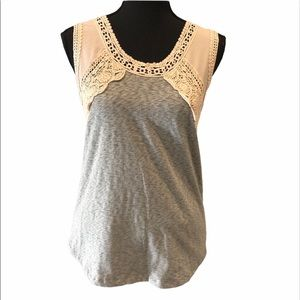 3/15$ J. Crew lace and cotton tank